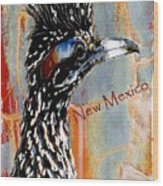 New Mexico Roadrunner Wood Print