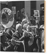 New Orleans Jazz Funeral Wood Print