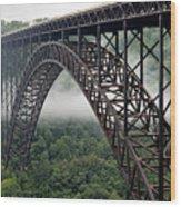 New River Gorge Bridge West Virginia Wood Print