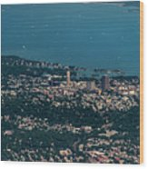New Rochelle Real Estate Aerial Photo Wood Print