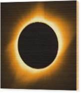 Total Eclipse Wood Print