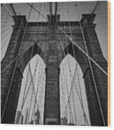 New York City - Brooklyn Bridge Wood Print