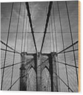 New York City - Brooklyn Bridge Wood Print
