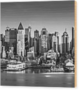 New York City Panorama Wood Print