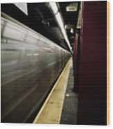 New York City Subway Wood Print