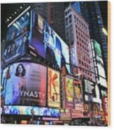 New York City Times Square Wood Print
