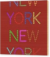 New York No 1 Wood Print