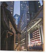 New York Wall Street Wood Print