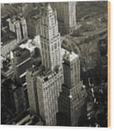 New York Woolworth Building - Vintage Photo Art Print Wood Print