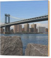 New York's Manhattan Bridge Wood Print