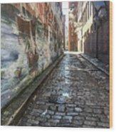 Newburyport Alley Wood Print