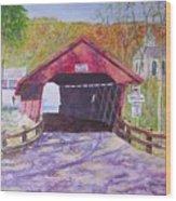 Newfield Bridge Wood Print