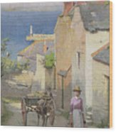 Newlyn From The Bottom Of Adit Lane Wood Print