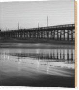 Newport Beach Pier At Sunrise Wood Print