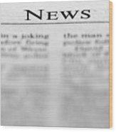 News Wood Print