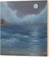 Night Seascape Wood Print