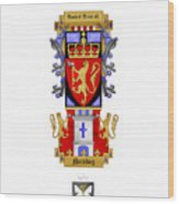 Norskog Coat Of Arms Wood Print