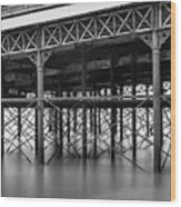 North Pier Blackpool Wood Print