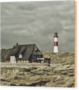 North Sea Lighthouse - Germany Wood Print