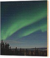 Northern Lights - Fairbanks Alaska Wood Print