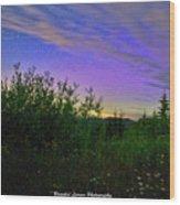 Northern Lights At Mount Pilchuck Wood Print