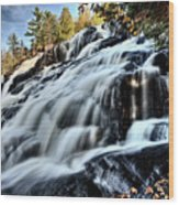 Northern Michigan Up Waterfalls Bond Falls Wood Print