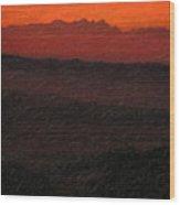 Not Quite Rothko - Blood Red Skies Wood Print