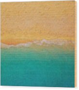 Not quite Rothko - Surf and Sand Wood Print