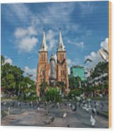 Notre-dame Cathedral Basilica Of Saigon, Officially Cathedral Basilica Of Our Lady Of The Immaculate Wood Print