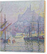 Notre Dame De La Garde, La Bonne Mere, Marseilles Wood Print