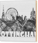 Nottingham England Skyline Wood Print