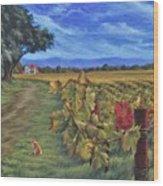 November Vineyard Wood Print
