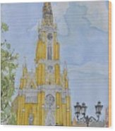 Novi Sad Cathedral Wood Print