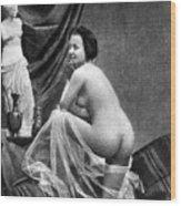 Nude Posing, 1855 Wood Print