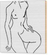 Nude Study 41116 Wood Print