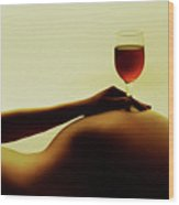 Nude Wine Wood Print