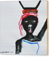 Nuer Lady - South Sudan Wood Print