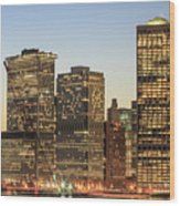 Ny Downtown Wood Print