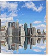 Ny East River Wood Print