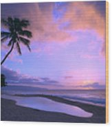 Oahu, North Shore Wood Print