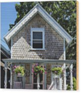 Oak Bluffs Cottage Wood Print
