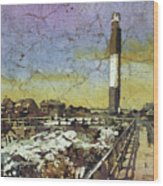 Oak Island Lighthouse Wood Print