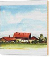 Oberendling Bavaria Wood Print