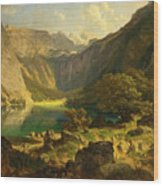 Obersee. Bavarian Alps Wood Print