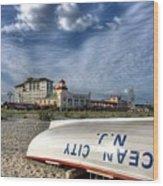 Ocean City Lifeboat Wood Print by John Loreaux