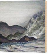 Ocean Emotion Release Wood Print