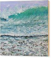 Ocean Surf Wood Print