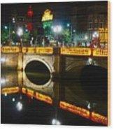 O'connell Bridge Wood Print