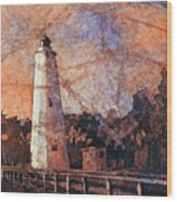 Ocracoke Island Lighthouse Wood Print