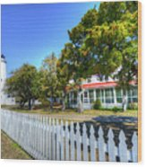 Ocracoke Lighthouse, Ocracoke Island, Nc Wood Print